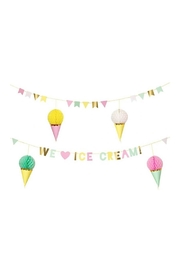 Meri Meri Ice Cream Garland - Front cropped