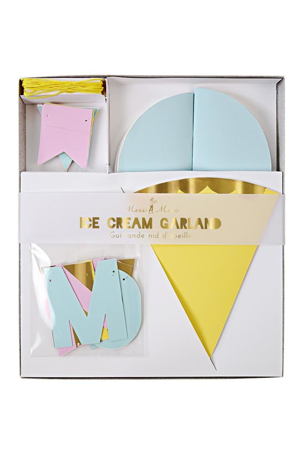 Meri Meri Ice Cream Garland - Front Full Image