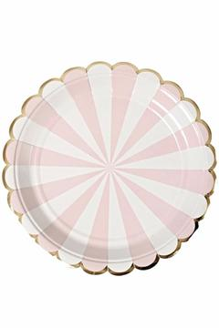 Shoptiques Product: Scalloped Pink Plates