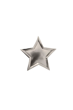 Shoptiques Product: Silver Star Paper Plates