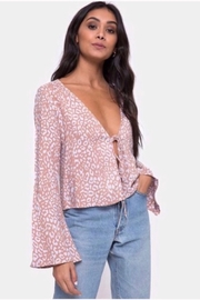Motel Rocks Merida Blouse In Leopard Spot - Pink - Product Mini Image