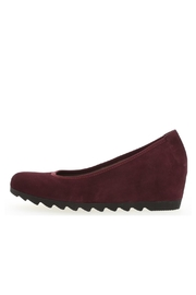 Gabor Merlot Suede Wedge - Product Mini Image