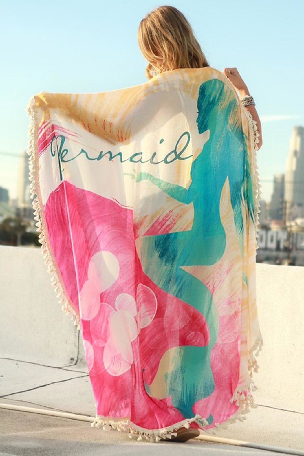 Love of Fashion Mermaid Beach Throw - Main Image