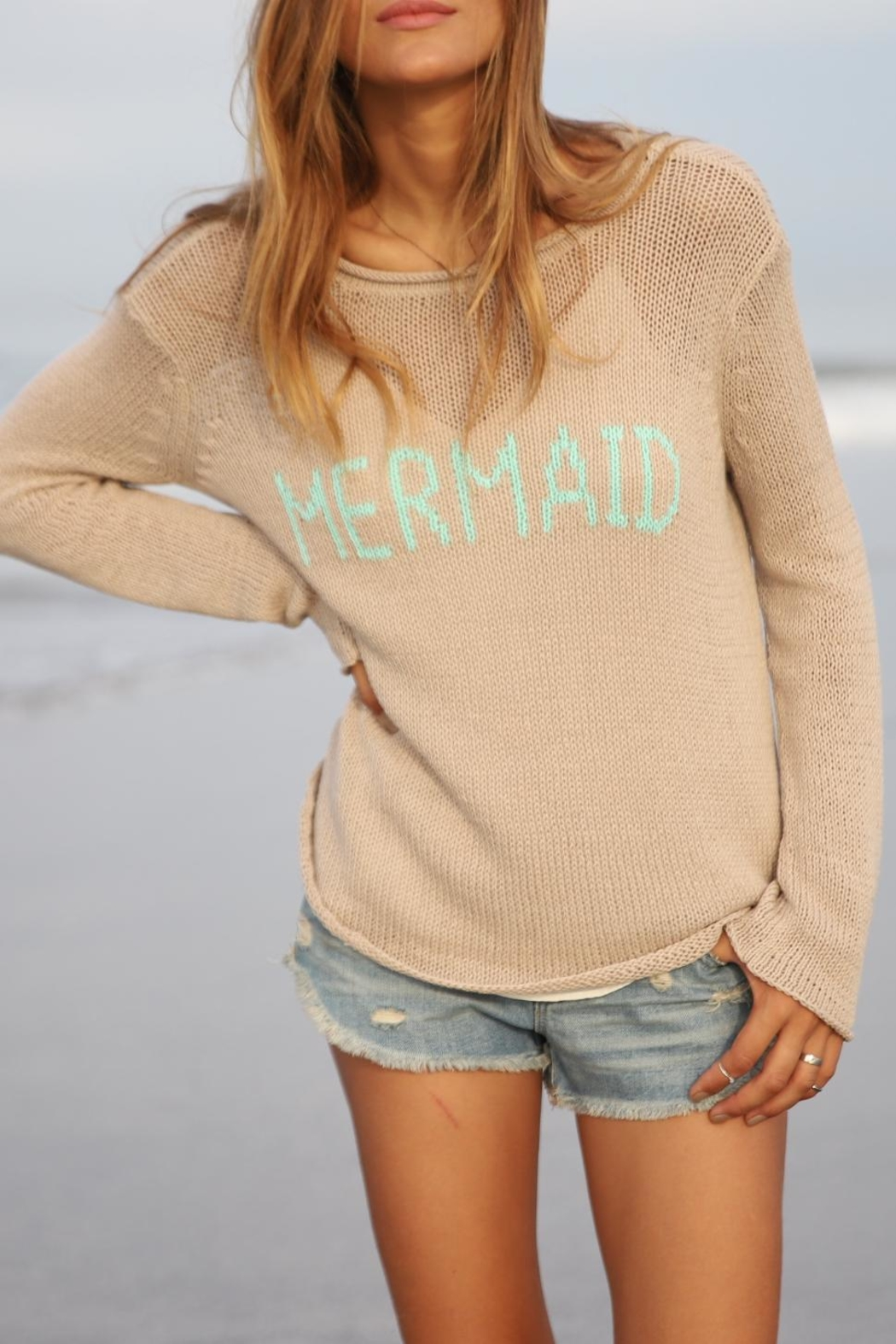 Wooden Ships Mermaid Crewneck Sweater - Front Full Image