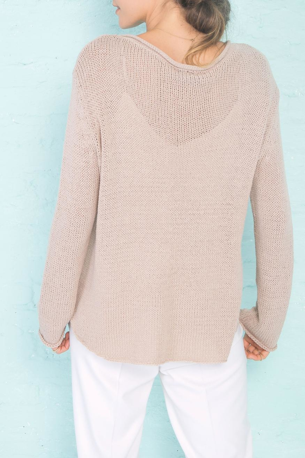 Wooden Ships Mermaid Crewneck Sweater - Back Cropped Image