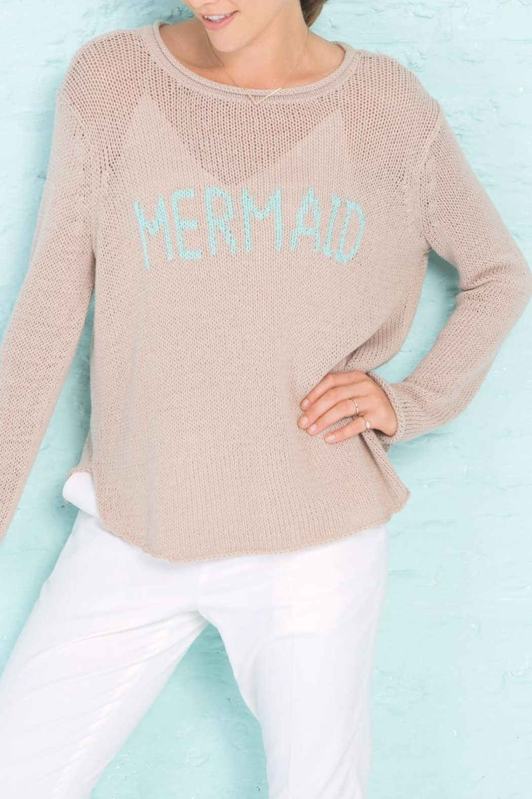 Wooden Ships Mermaid Crewneck Sweater - Side Cropped Image