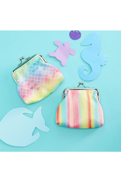 Cupcakes and Cartwheels Mermaid Funds Glitter Coin Purse - Alternate List Image