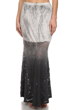Shoptiques Product: Mermaid Grey-Lace Skirt