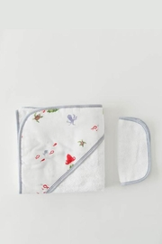 Little Unicorn Mermaid Hooded Towel-Set - Front full body