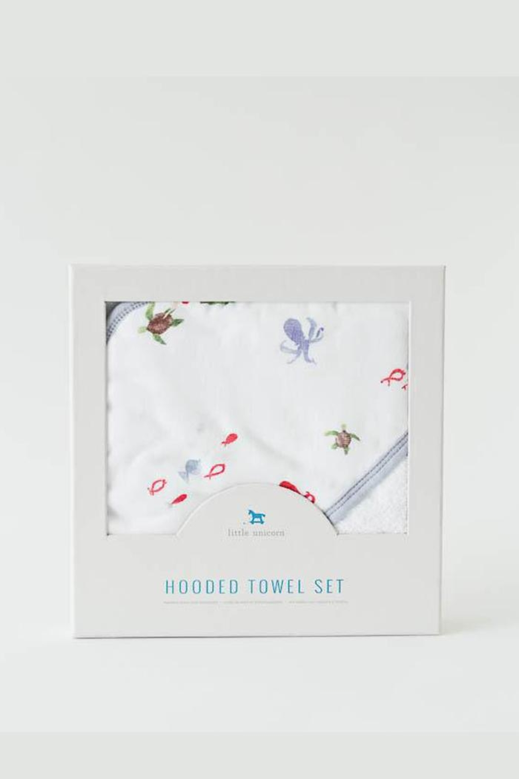 Little Unicorn Mermaid Hooded Towel-Set - Main Image