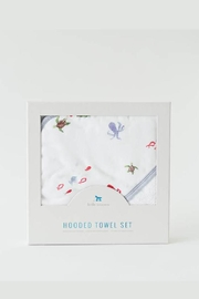Little Unicorn Mermaid Hooded Towel-Set - Front cropped