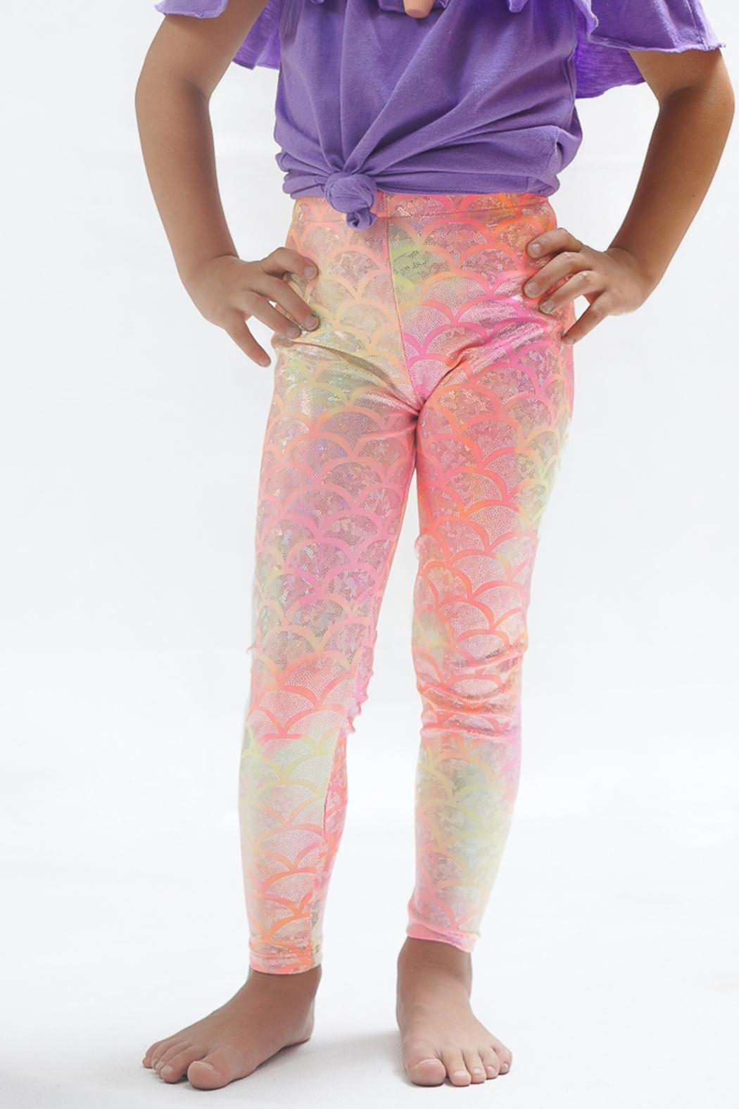 PPoT Kids Mermaid Leggings Orange - Main Image