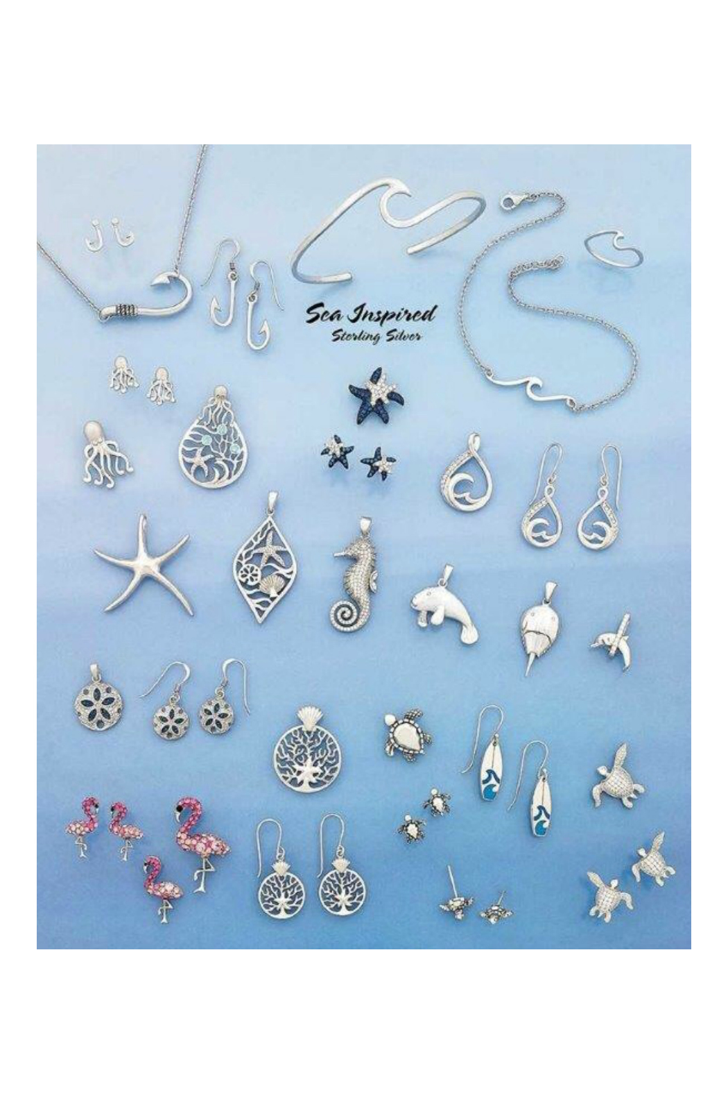 Presco MERMAID NECKLACE WITH CRYSTAL SWAROVSKI® ELEMENTS - Front Full Image