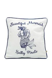 DEI Mermaid Pirate Accent Pillow - Front cropped