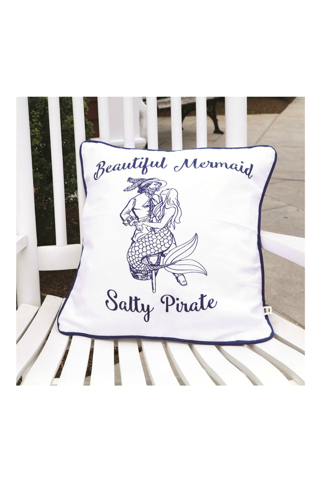 DEI Mermaid Pirate Accent Pillow - Front Full Image