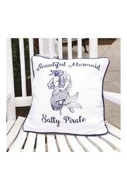 DEI Mermaid Pirate Accent Pillow - Front full body