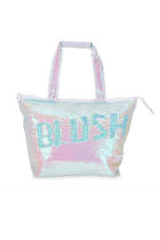 Blush Mermaid Sequin Cooler Tote - Front full body