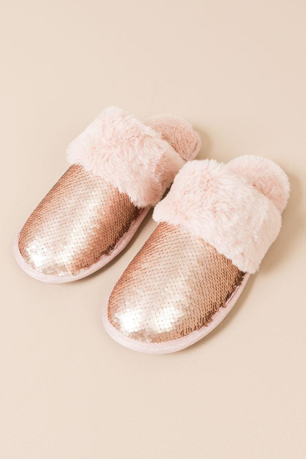 Pia Rossini Mermaid Sequin Slippers - Front Cropped Image
