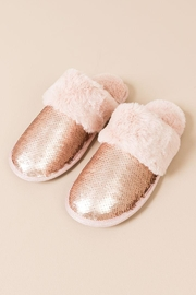 Pia Rossini Mermaid Sequin Slippers - Front cropped