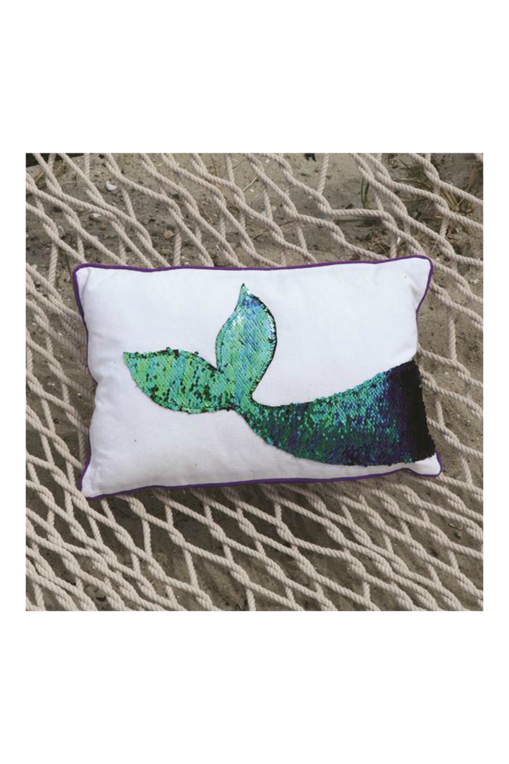 DEI Mermaid Sequin Tail Accent Pillow - Front Full Image