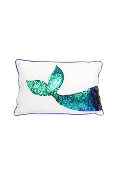 Shoptiques Product: Mermaid Sequin Tail Accent Pillow