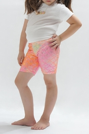 PPoT Kids Mermaid Shorts Orange - Front cropped