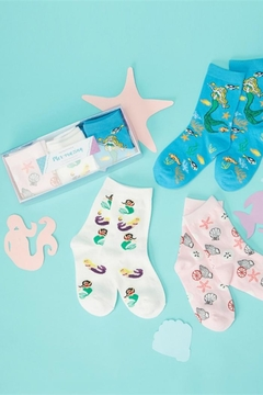 Two's Company Mermaid Sock Set - Alternate List Image