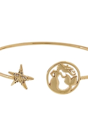 Fashion Jewelry Mermaid-Star Gold Cuff-Bracelet - Front cropped