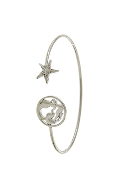 Fashion Jewelry Mermaid-Star Silver Cuff-Bracelet - Alternate List Image