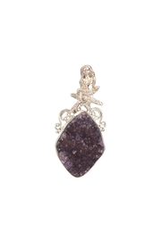 Som's Mermaid/starfish Pin/pendant W/amethyst-Druzy - Product Mini Image