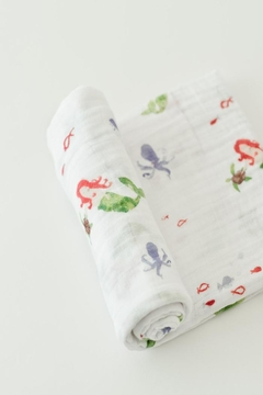 Little Unicorn Mermaid Swaddle Blanket - Product List Image
