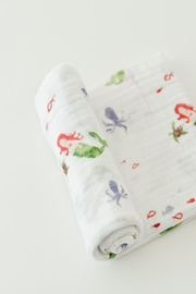 Little Unicorn Mermaid Swaddle Blanket - Front cropped