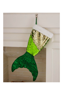 Soap and Water Newport Mermaid Tail Reversible Sequin Stockings - Product List Image