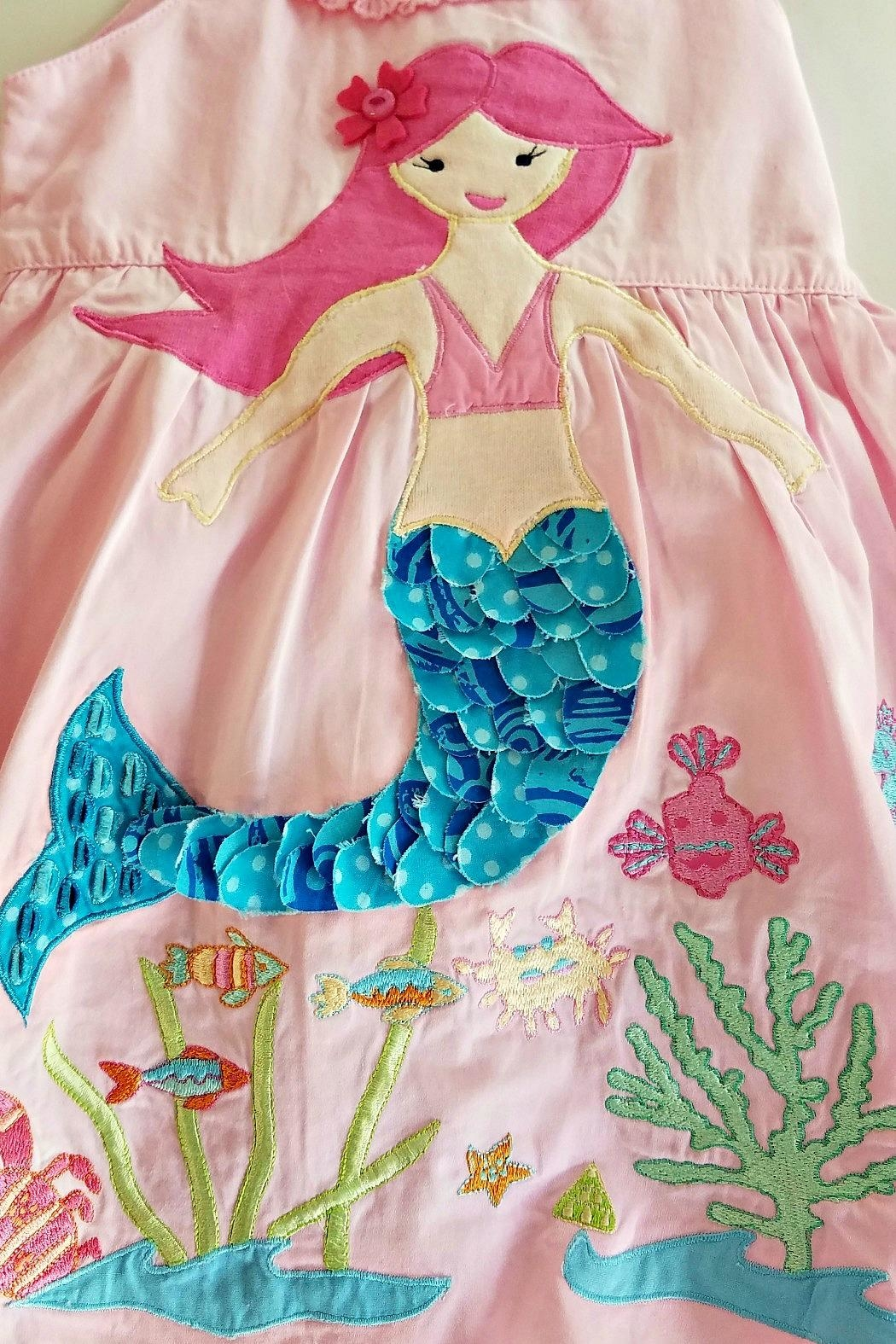 Cotton Kids Mermaid Under-The-Sea Dress - Side Cropped Image