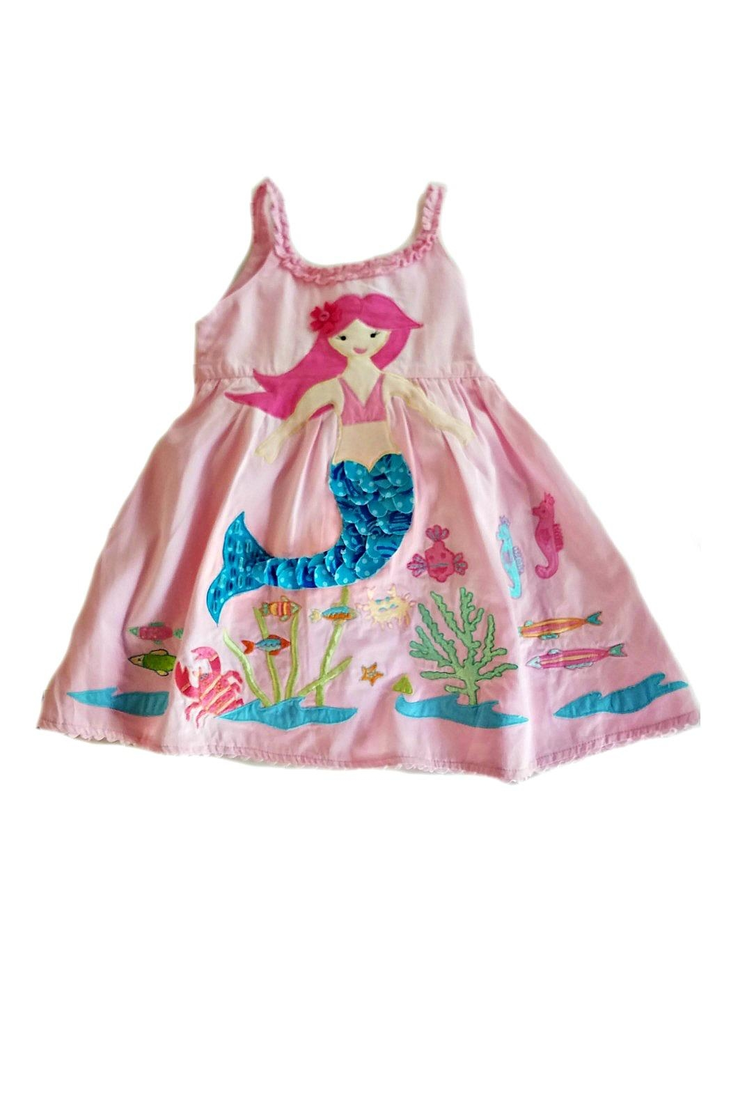 Cotton Kids Mermaid Under-The-Sea Dress - Front Cropped Image