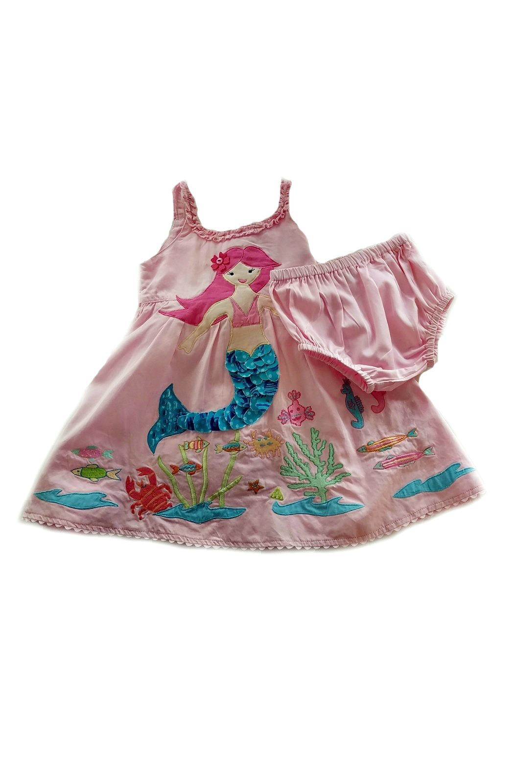 Cotton Kids Mermaid Under-The-Sea Dress - Front Full Image