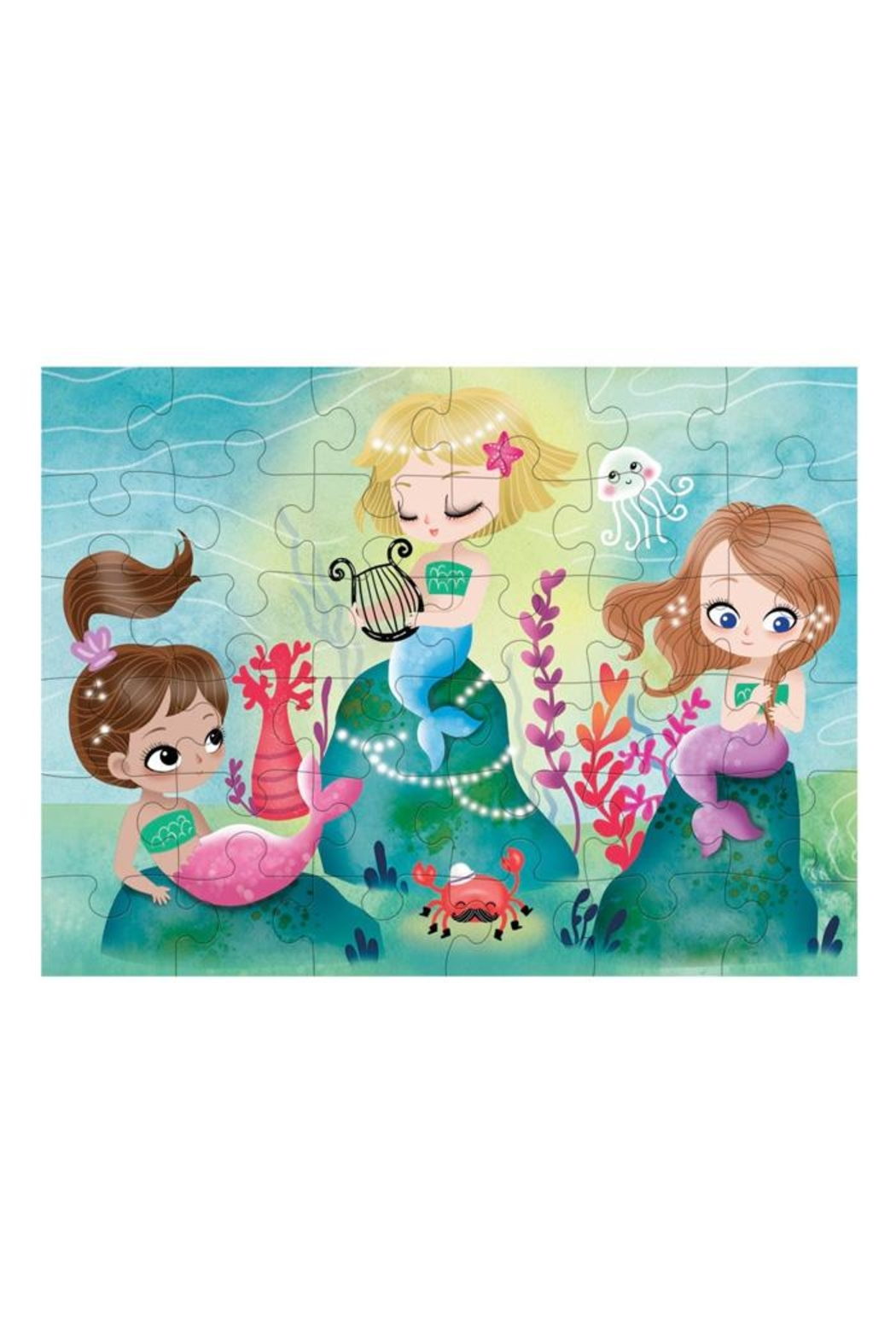 Mudpuppy Mermaids Puzzle-To-Go - Front Full Image