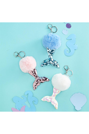 Cupcakes and Cartwheels Mermazing Reversible Sequin & Pom Pom Bag Charm - Product Mini Image