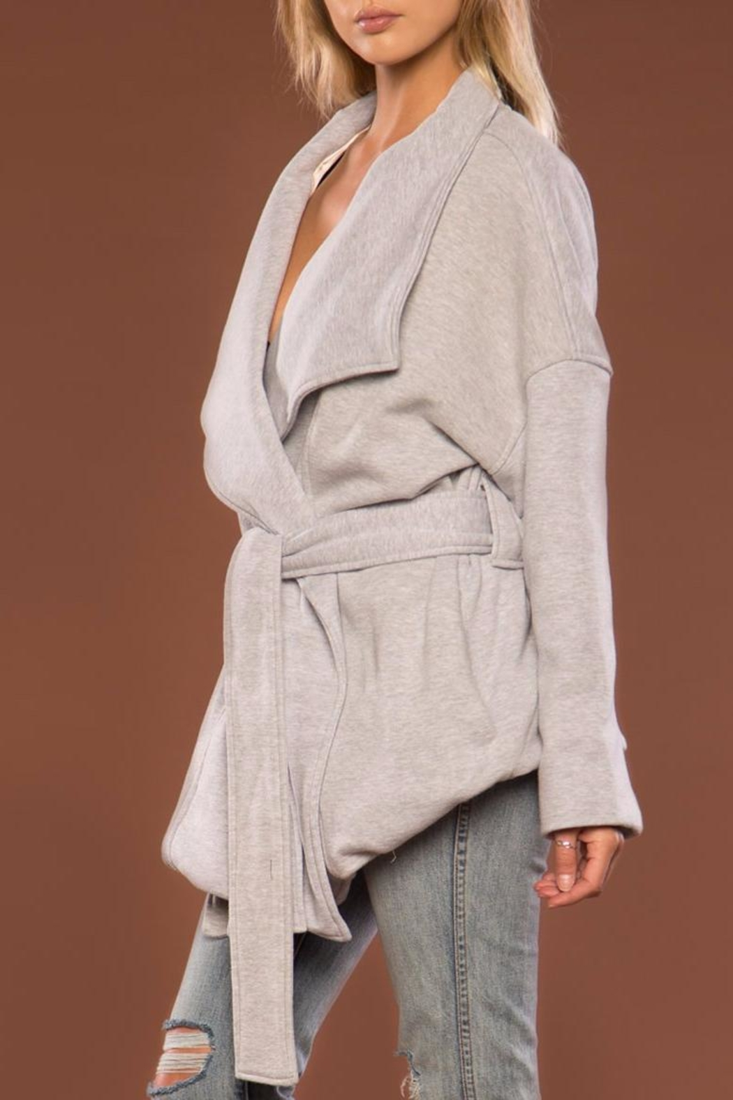 Merritt Charles Oversized Wrap Jacket - Back Cropped Image