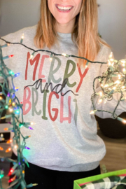 Lyn-Maree's  Merry and Bright Holiday Crewneck - Product Mini Image