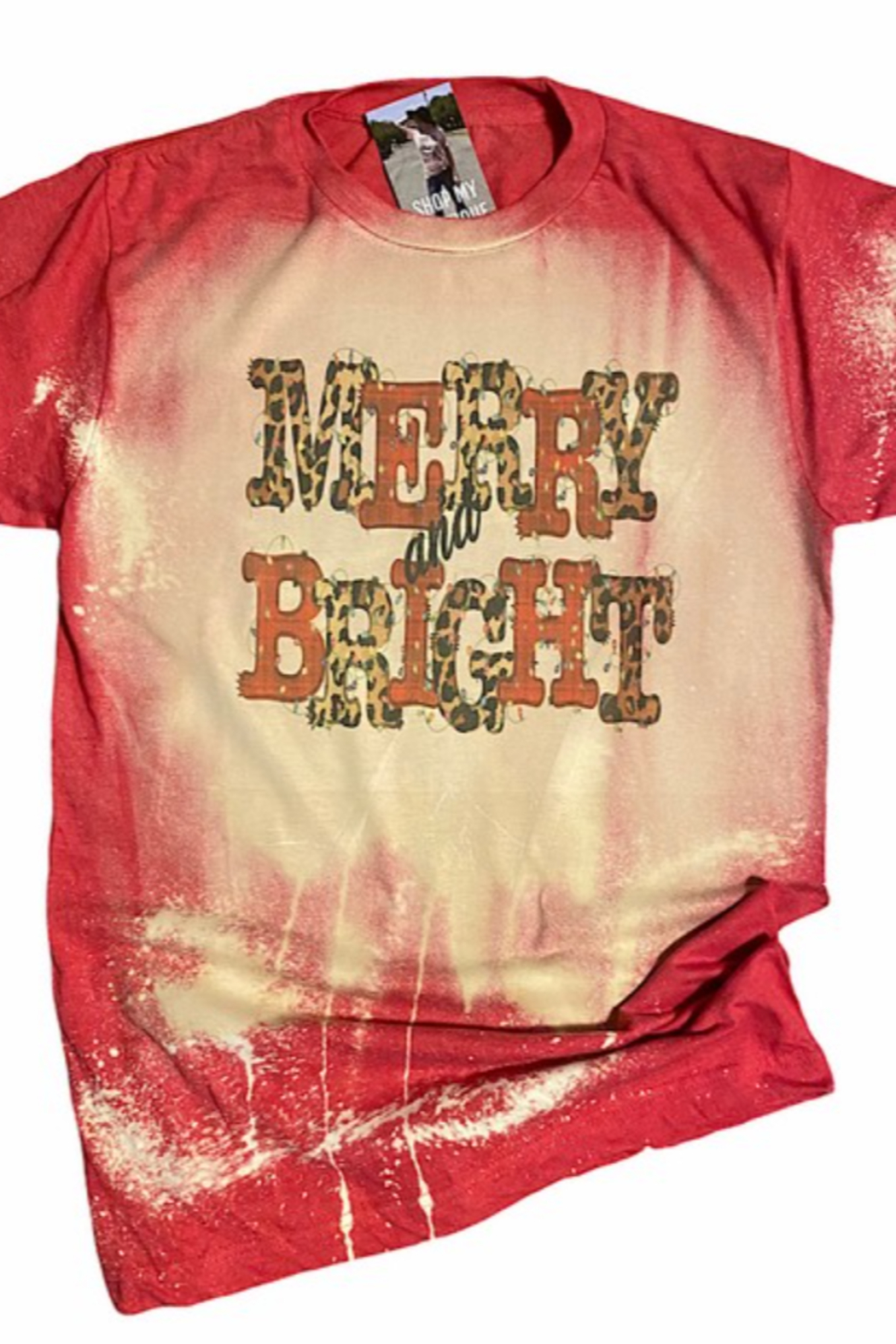 Tilted Merry and Bright Tee - Main Image