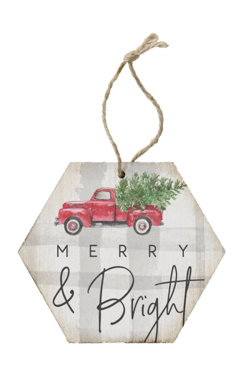 Sincere Surroundings  Merry & Bright Ornament - Front Cropped Image