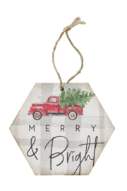 Sincere Surroundings  Merry & Bright Ornament - Front cropped