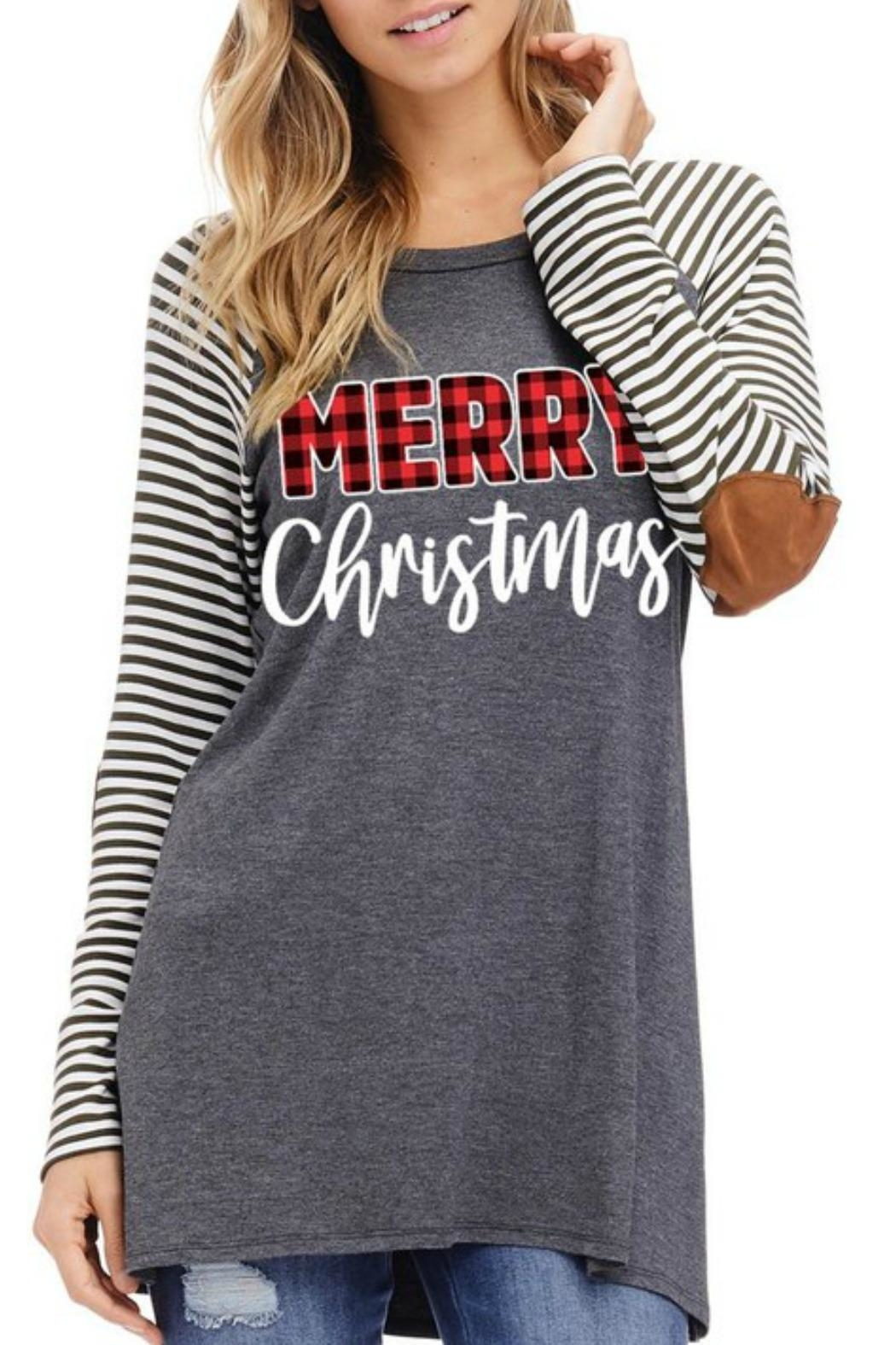 American Fit Merry Christmas Top - Main Image
