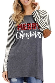 American Fit Merry Christmas Top - Front cropped