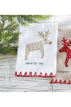Mud Pie Merry Reindeer Towel - Alternate List Image
