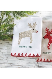 Mud Pie Merry Reindeer Towel - Product Mini Image