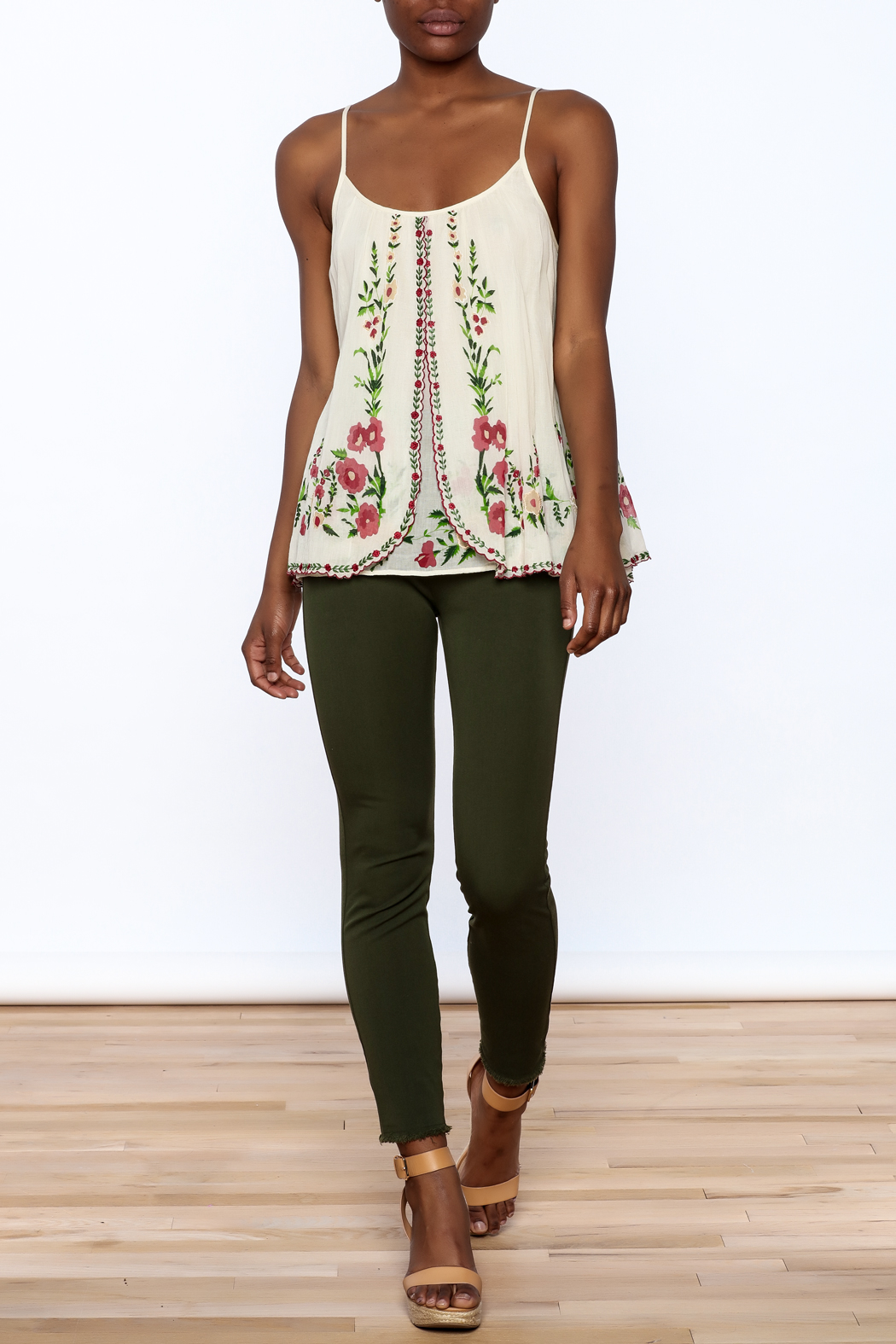 Mes Demoiselles Ivory Embroidered Blouse - Front Full Image