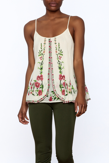 Mes Demoiselles Ivory Embroidered Blouse - Main Image