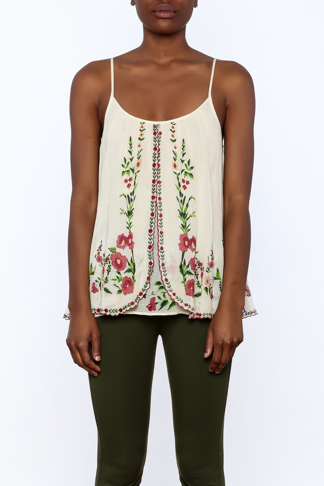 Mes Demoiselles Ivory Embroidered Blouse - Side Cropped Image